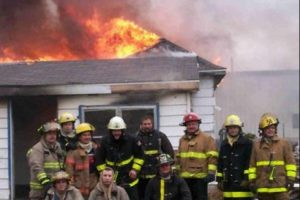 Firefighters Slacking Off Watching a House Burn Down